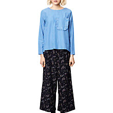 Buy Compañía Fantastica Striped Top, Blue Online at johnlewis.com