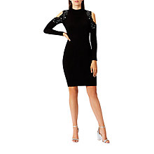 Buy Coast Fallon Embellished Knit Dress, Black Online at johnlewis.com