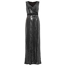 Buy Phase Eight Nigella Sequin Full Length Dress, Black/Silver Online at johnlewis.com
