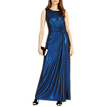 Buy Phase Eight Caro Shimmer Full Length Dress, Cobalt Online at johnlewis.com