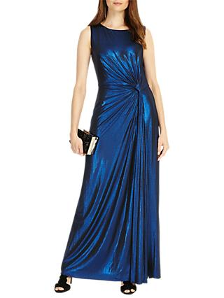 Phase Eight Caro Shimmer Full Length Dress, Cobalt