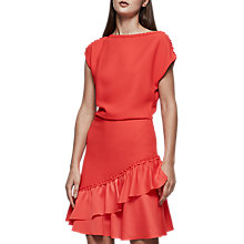 Buy Reiss Cecilia Sleeve Detail Dress, Vermillion Online at johnlewis.com