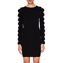 Buy Ted Baker Jayney Sleeve Detail Knitted Bodycon Dress, Black Online at johnlewis.com