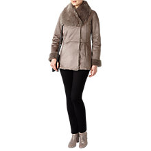 Buy Pure Collection Melanie Faux Shearling Coat, Soft Taupe Online at johnlewis.com