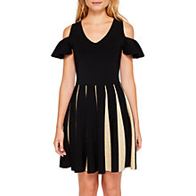 Buy Ted Baker Wytney Cold Shoulder Skater Dress, Black/Gold Online at johnlewis.com