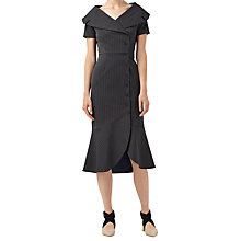 Buy Finery Carlo Pinstripe Shirt Dress, Black & White Online at johnlewis.com