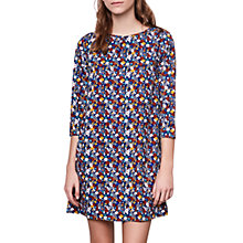 Buy Compañía Fantastica Flower Print Straight Dress, Blue Online at johnlewis.com