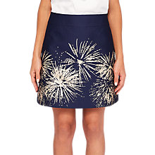 Buy Ted Baker Saphia Stardust Mini Skirt, Ink/Silver Online at johnlewis.com