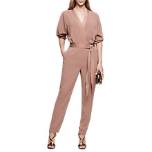 Buy Reiss Etta Wrap Front Long Sleeve Jumpsuit Online at johnlewis.com