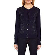 Buy Tee Baker Hycynth Stardust Print Cardigan, Dark Blue/Silver Online at johnlewis.com