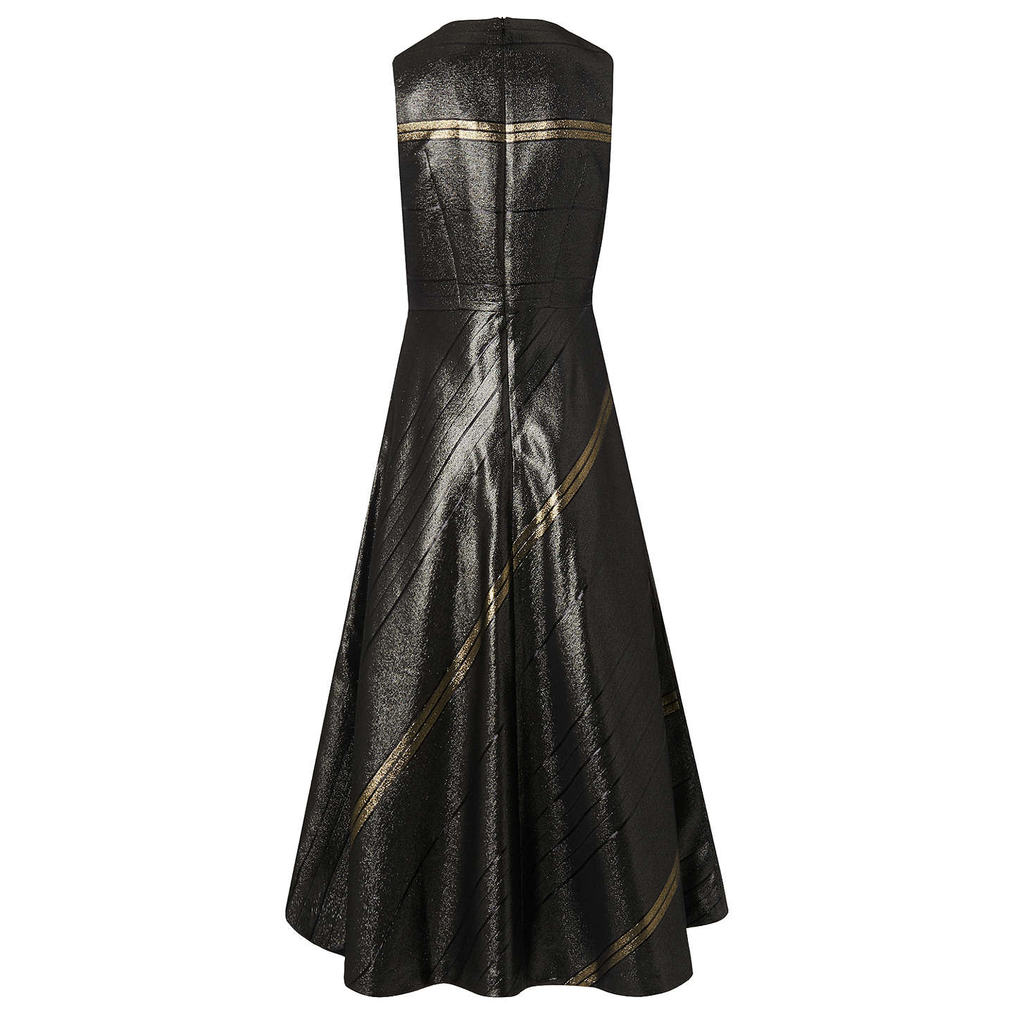 BuyL.K. Bennett Polly Dress, Black/Gold, 6 Online at johnlewis.com
