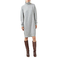 Buy Finery Burrell Roll Neck Jumper Dress, Grey Online at johnlewis.com