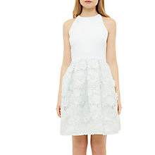 Buy Ted Baker Lexana Floral Lace A-Line Dress, Light Green Online at johnlewis.com