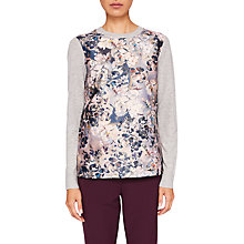 Buy Ted Baker Imigen Elaquent Jacquard Jumper, Light Grey Online at johnlewis.com