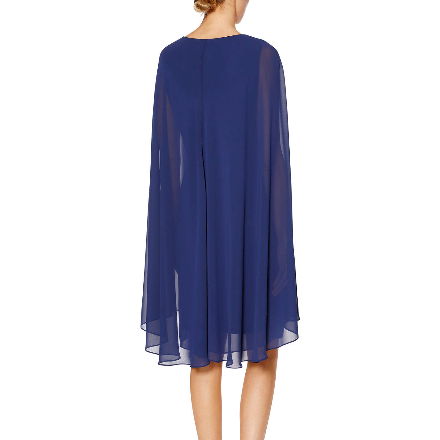 BuyGina Bacconi Nora Cape Dress, Navy, 14 Online at johnlewis.com