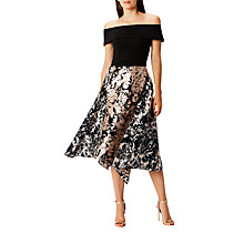 Buy Coast Nikki Jacquard Asymmetric Skirt, Multi Online at johnlewis.com