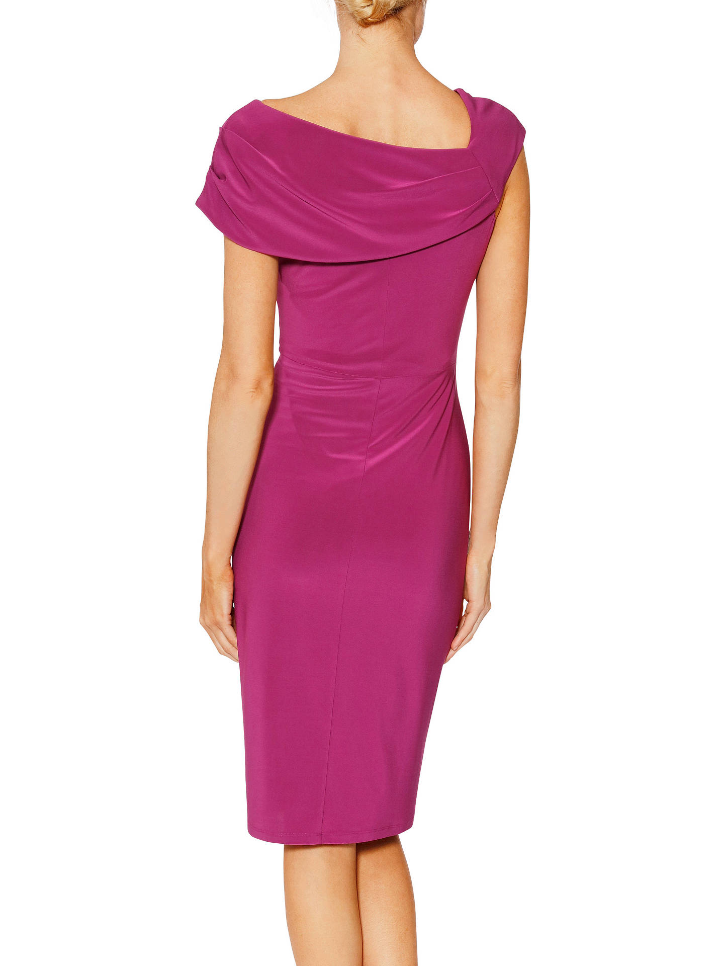 BuyGina Bacconi Dido Monochrome Dress, Mulberry, 20 Online at johnlewis.com