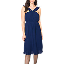Buy Wild Pony Pleated Dress, Navy Blue Online at johnlewis.com