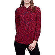 Buy Compañía Fantástica Geometric Print Shirt, Red Online at johnlewis.com