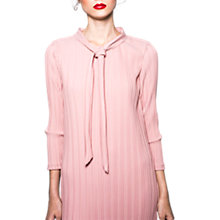 Buy Wild Pony Pleated Knee Length Tie Neck Dress, Pink Online at johnlewis.com