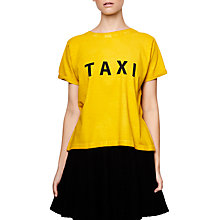 Buy Compañía Fantástica Taxi Print T-Shirt, Yellow Online at johnlewis.com