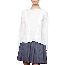 Buy Compañía Fantástica Ruffle Detail Blouse, White Online at johnlewis.com