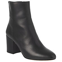 Buy L.K. Bennett Jourdan Block Heeled Ankle Boots, Black Leather Online at johnlewis.com