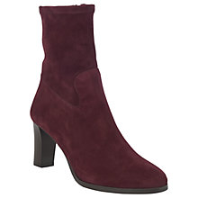 Buy L.K. Bennett Kayla Sock Ankle Boots, Oxblood Online at johnlewis.com
