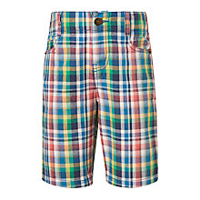 Buy John Lewis Boys' Check Chino Shorts, Multi Online at johnlewis.com