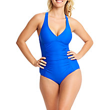 Buy Zoggs Trinity Twistback Swimsuit, Noble Blue Online at johnlewis.com