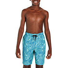 Buy Speedo Boys' Forestfield Print Leisure Watershorts, Stellar/Turquoise Online at johnlewis.com