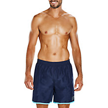 "Buy Speedo Colour Block 16"" Watershorts, Navy/Turquoise Online at johnlewis.com"