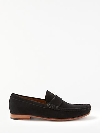 John Lewis & Partners Louis Suede Penny Loafers