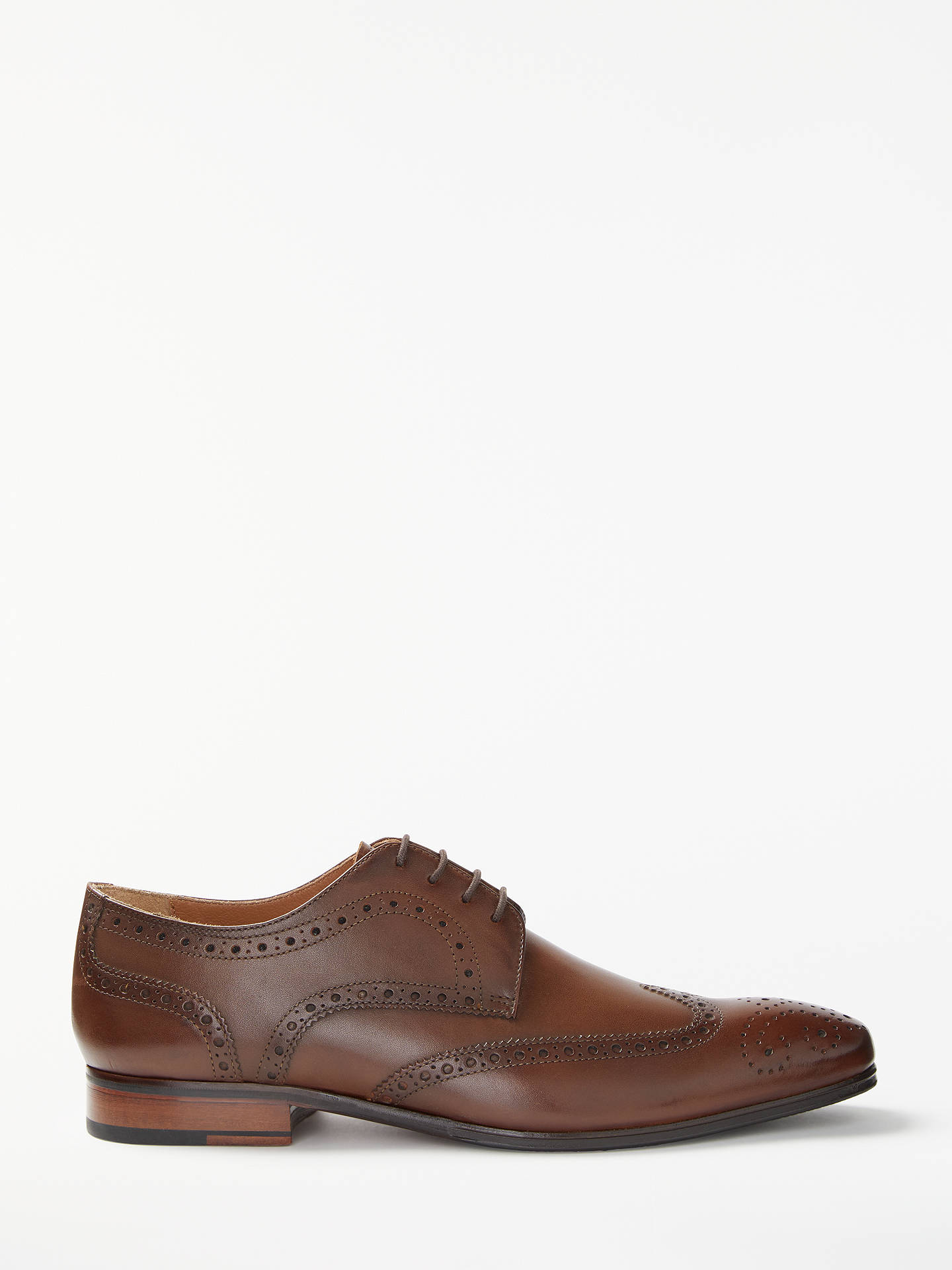 8253418ed Buy John Lewis & Partners Thomas Leather Lace-Up Brogues, Cognac, 7 Online  ...