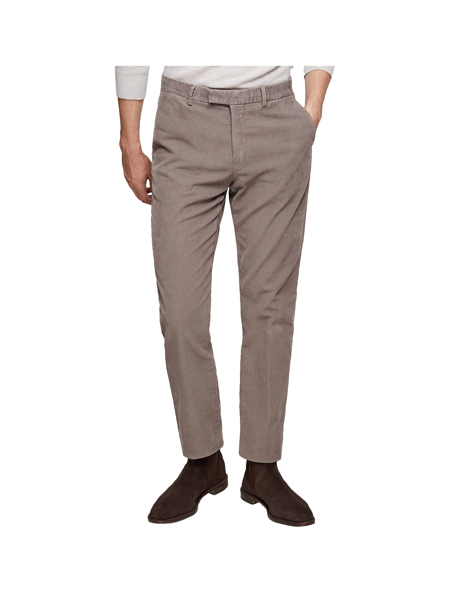 85032680 Buy Reiss Nevis Slim Fit Corduroy Trousers, Grey, 28R Online at  johnlewis.com ...