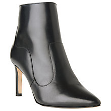 Buy L.K. Bennett Anastasia Stiletto Heeled Ankle Boots, Black Leather Online at johnlewis.com