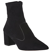 Buy L.K. Bennett Harri Ankle Sock Boots, Black Suede Online at johnlewis.com