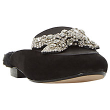 Buy Dune Glam Up Jewelled Mule Loafers, Black Online at johnlewis.com