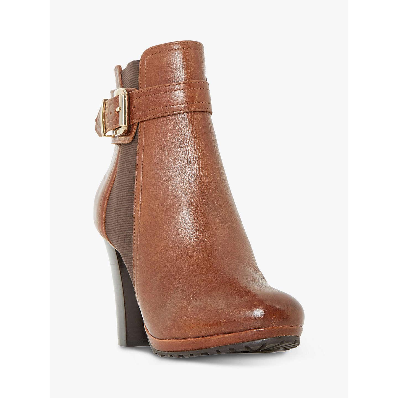BuyDune Orine Block Heeled Ankle Boots, Tan, 3 Online at johnlewis.com ...