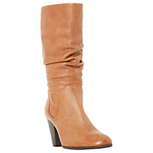 Buy Dune Rossy Pull On Slouch Boots, Tan Online at johnlewis.com