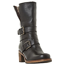 Buy Dune Rockerr Buckle Block Heeled Calf Boots Online at johnlewis.com