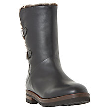 Buy Dune Raylan Buckle Calf Boots, Black Online at johnlewis.com