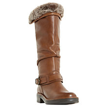 Buy Dune Torie Knee High Boots, Tan Leather Online at johnlewis.com