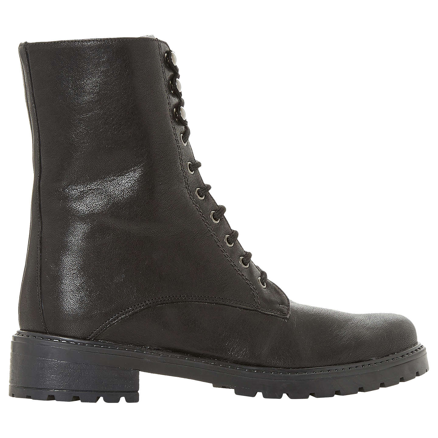 BuyDune Rayko Lace Up Calf Boots, Black, 3 Online at johnlewis.com