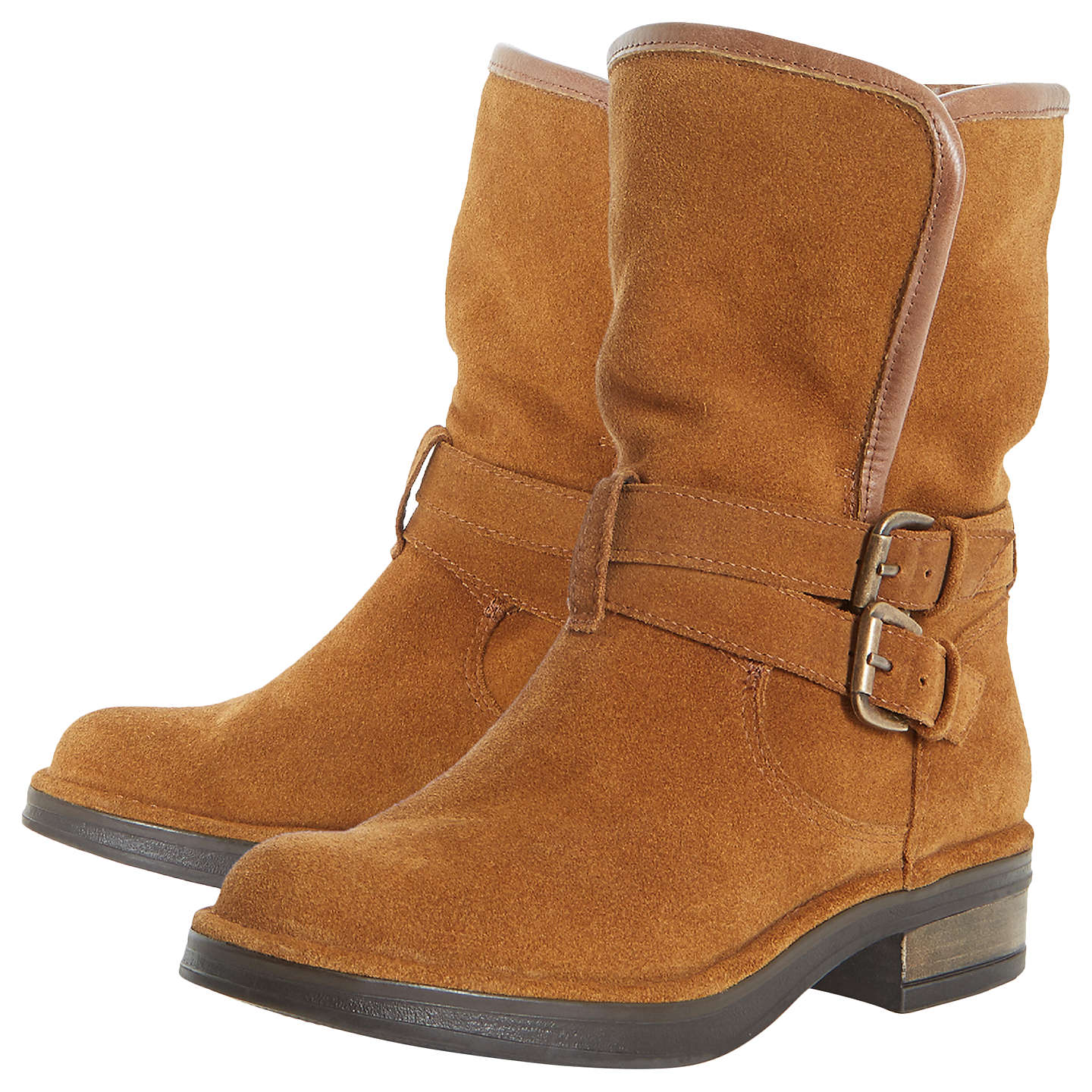 BuyDune Ramona Calf Boots, Tan, 3 Online at johnlewis.com