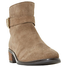 Buy Dune Pheobie Block Heeled Ankle Chelsea Boots, Taupe Online at johnlewis.com