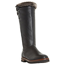 Buy Dune Tayner Warm Lined Knee High Boots, Black Online at johnlewis.com