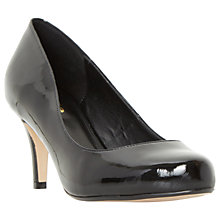 Buy Dune Wide Fit Amelia Stiletto Heeled Court Shoes, Black Patent Online at johnlewis.com