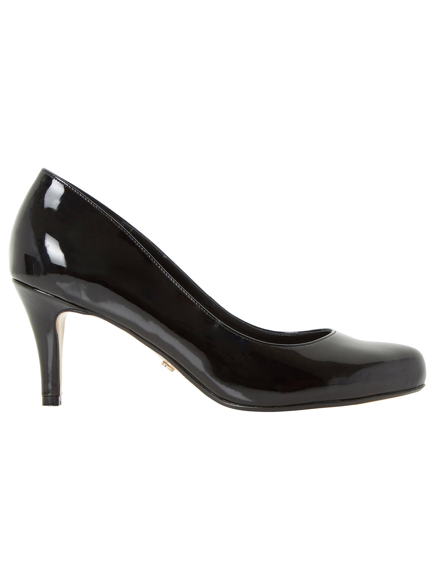 0bcb9f5f8ef00 Buy Dune Wide Fit Amelia Stiletto Heeled Court Shoes, Black Patent, 3  Online at ...