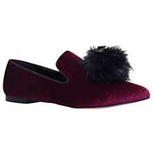Buy KG by Kurt Geiger Kelsi Pom Pom Loafers, Wine Online at johnlewis.com